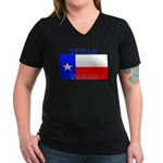 Texas.jpg Women's V-Neck Dark T-Shirt