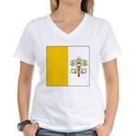 Vaticanblank.jpg Women's V-Neck T-Shirt