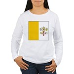 Vaticanblank.jpg Women's Long Sleeve T-Shirt