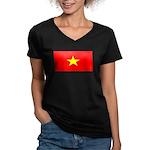 Vietnamblank.jpg Women's V-Neck Dark T-Shirt
