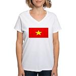 Vietnamblank.jpg Women's V-Neck T-Shirt