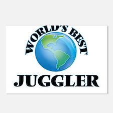 World's Best Juggler Postcards (Package of 8)