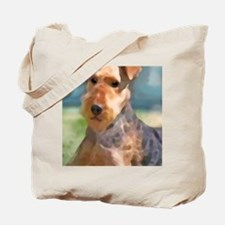 Cute Airedale mom Tote Bag