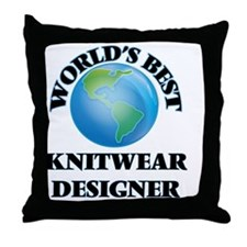 World's Best Knitwear Designer Throw Pillow