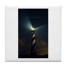 Cape Hatteras Light Tile Coaster