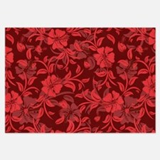 Red Floral- Invitations Invitations