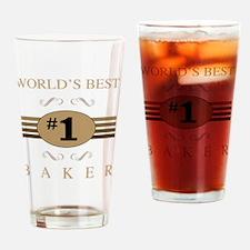 World's Best Baker Drinking Glass
