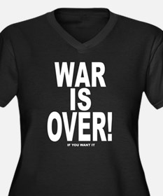 War is Over, If You Want It Women's Plus Size V-Ne