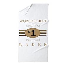 World's Best Baker Beach Towel