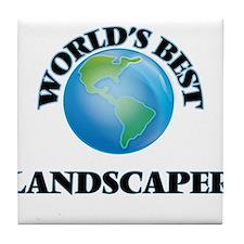World's Best Landscaper Tile Coaster