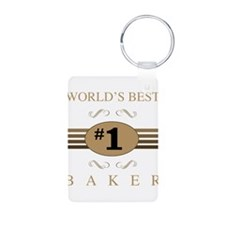 World's Best Baker Keychains