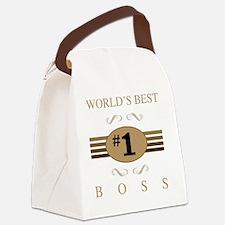 World's Best Boss Canvas Lunch Bag