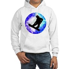 Snowboarder in Whiteout Hoodie