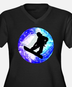 Snowboarder i Plus Size T-Shirt