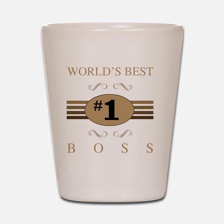 World's Best Boss Shot Glass