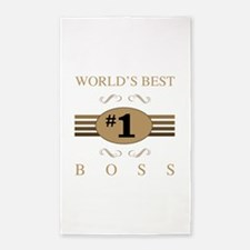 World's Best Boss 3'x5' Area Rug