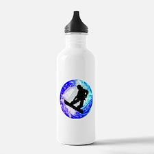 Snowboarder in Whiteou Water Bottle