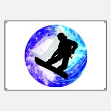 Snowboarder in Whiteout Banner