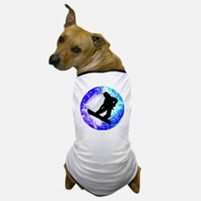 Snowboarder in Whiteout Dog T-Shirt