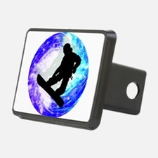 Snowboarder in Whiteout Hitch Cover