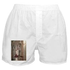 western cowboy boots barnwood country Boxer Shorts