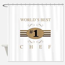 World's Best Chef Shower Curtain
