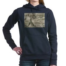 vintage paris eiffel tow Women's Hooded Sweatshirt