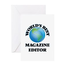 World's Best Magazine Editor Greeting Cards