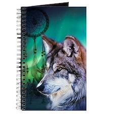 native dream catcher wolf northern light Journal