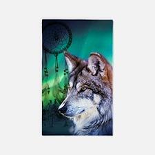 native dream catcher wolf northern 3'x5' Area Rug