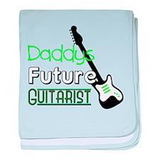 Daddys future guitarist baby blanket