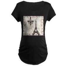 vintage paris eiffel tower chand Maternity T-Shirt