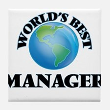 World's Best Manager Tile Coaster