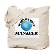 World's Best Manager Tote Bag