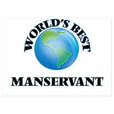 World's Best Manservant Invitations