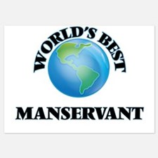 World's Best Manservant Invitations
