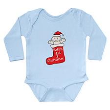 Cute Stock Long Sleeve Infant Bodysuit