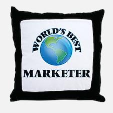 World's Best Marketer Throw Pillow