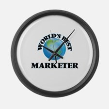World's Best Marketer Large Wall Clock