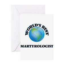 World's Best Martyrologist Greeting Cards