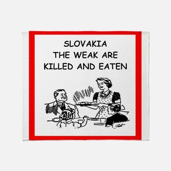 slovakia Throw Blanket