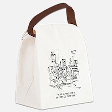 Finance Cartoon 9229 Canvas Lunch Bag
