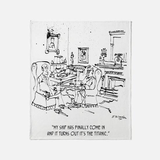 Finance Cartoon 9229 Throw Blanket