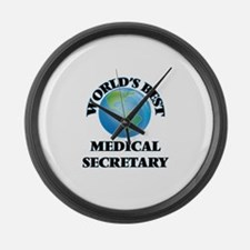 World's Best Medical Secretary Large Wall Clock