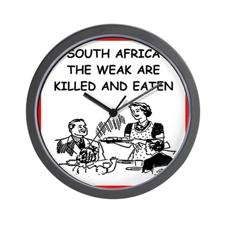 South africa wall clock by cannibalfun for Modern wall clocks south africa