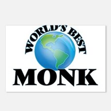 World's Best Monk Postcards (Package of 8)