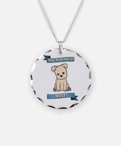 You had me at WOOF! Necklace
