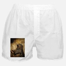 wild zebra safari Boxer Shorts