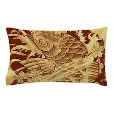 vintage japanese koi fish Pillow Case