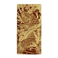vintage japanese koi fish Beach Towel